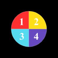 Гобо-слайд (стекло, d=37 мм, четыре цвета)