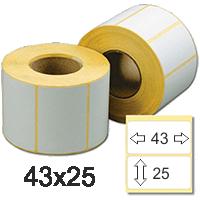 Термоэтикетка 43*25 чистые ECO (1000)