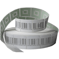 Этикетки РЧ 40*40 мм с ложным ш/кодом, 1000 шт/рул.
